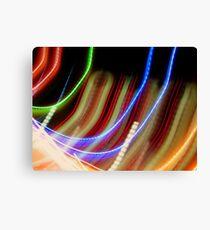 Coloured Curves Canvas Print