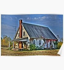 Old School House in the Fall Poster