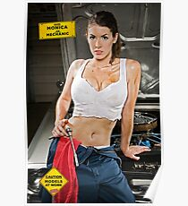 Caution: Models At Work - The Mechanic Poster