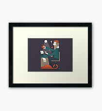 The Typing Man Framed Print
