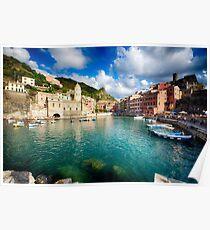 Vernazza  Harbor, Cinque Terre, Liguria, Italy Poster