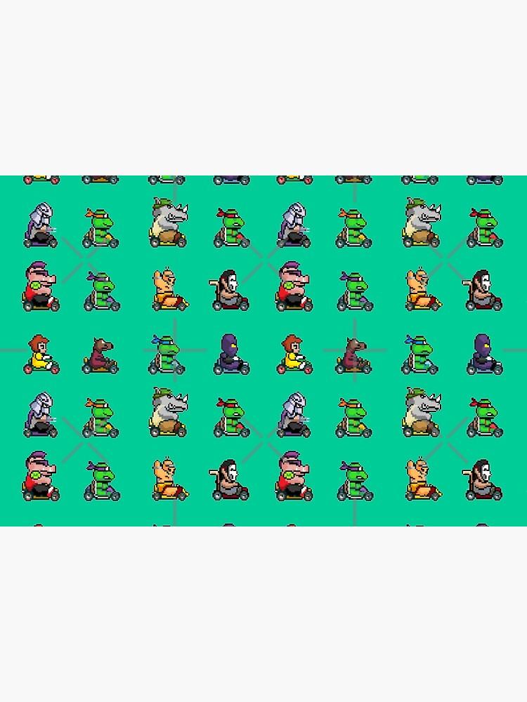 Quot Ninja Turtle Kart 2 Quot Bath Mat By Wil2liam4 Redbubble