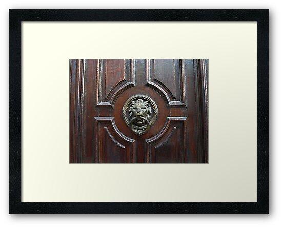 Lion Door Knocker by Lee d'Entremont