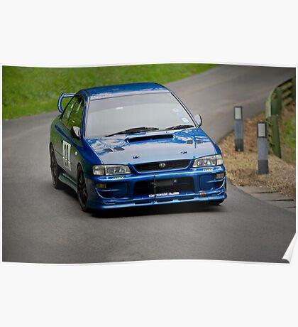Blue Subaru Impreza STi Poster