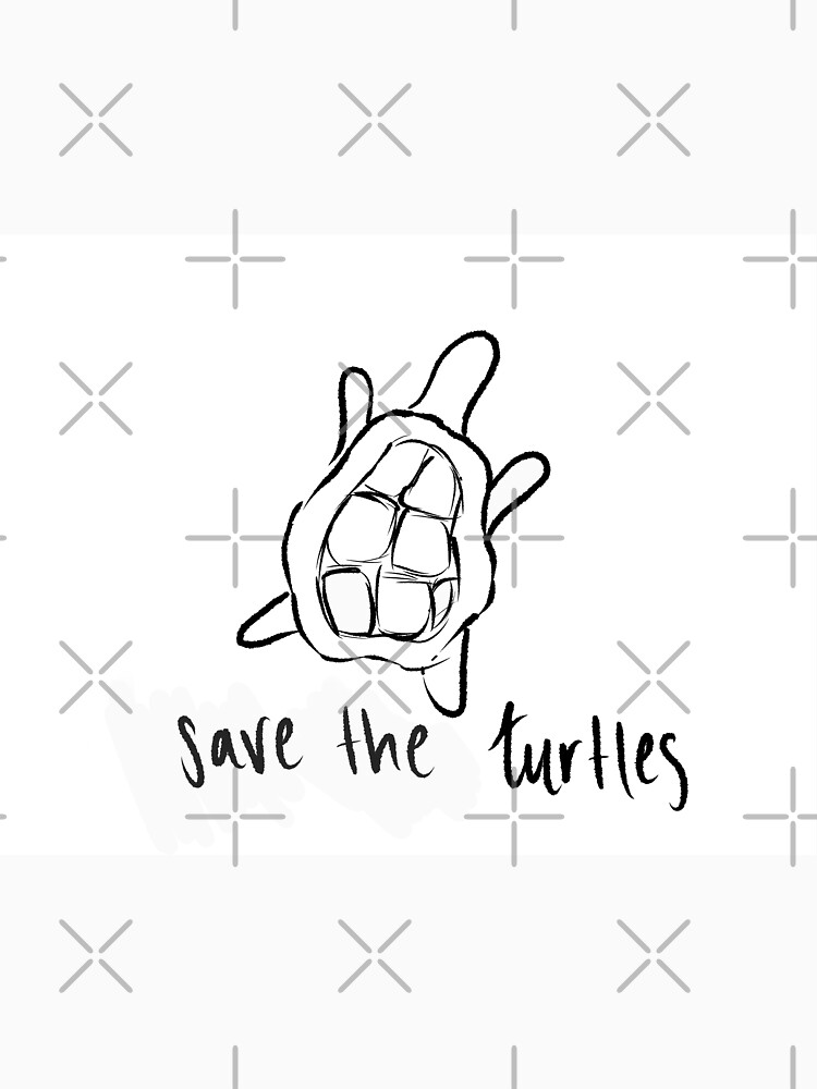 """Save the turtles"" T-shirt by color-the-world 