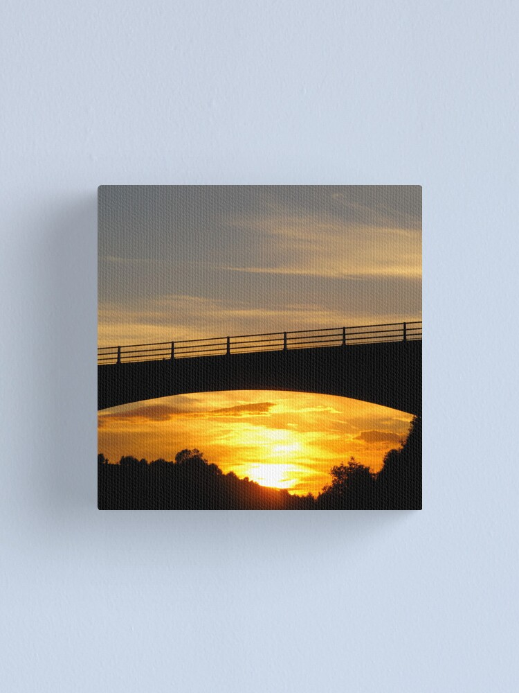 Alternate view of Sunset Bridge Canvas Print