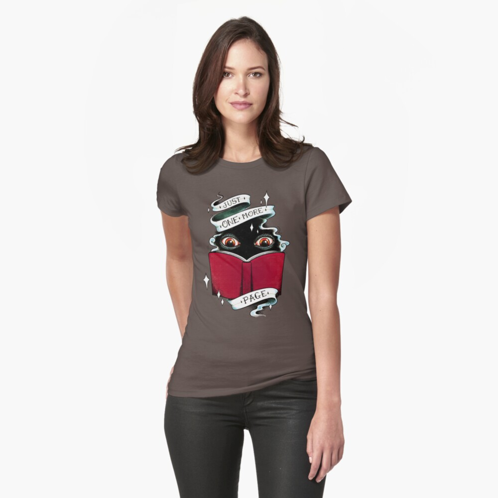 One More Page Fitted T-Shirt