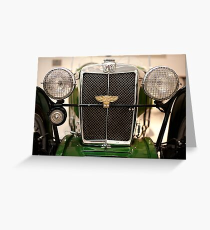 MG Midget 1932 J2 Greeting Card