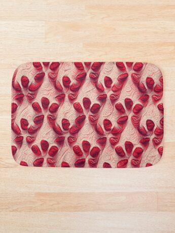 Pomegranate seeds #DeepDream Bath Mat