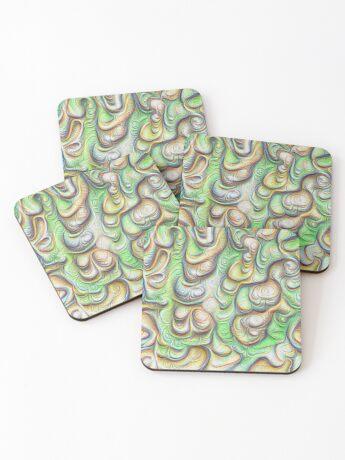 Frozen liquid green stones #DeepDream #Art Coasters