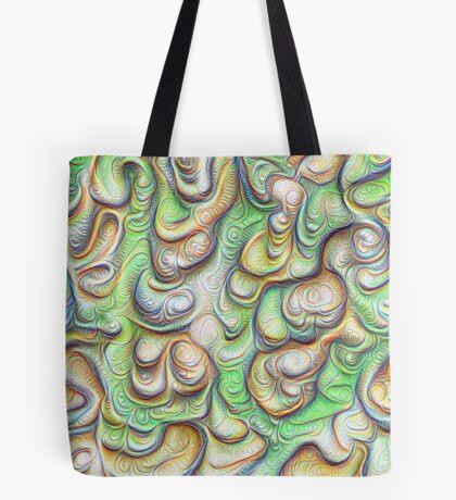 Frozen liquid green stones #DeepDream #Art Tote Bag