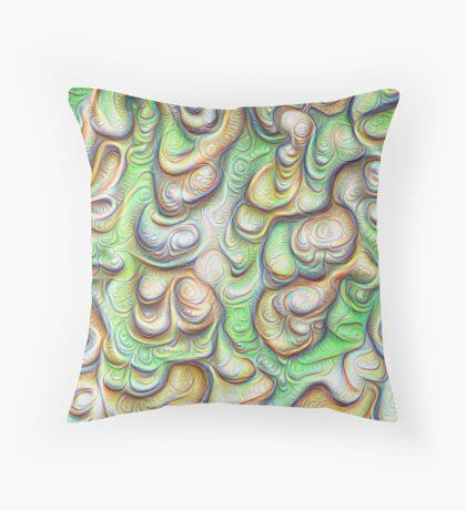 Frozen liquid green stones #DeepDream #Art Throw Pillow