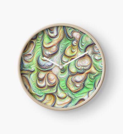 Frozen liquid green stones #DeepDream #Art Clock