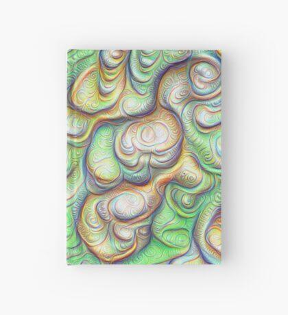 Frozen liquid green stones #DeepDream #Art Hardcover Journal