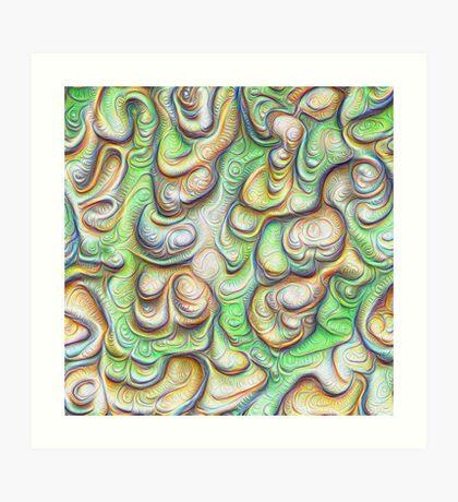 Frozen liquid green stones #DeepDream #Art Art Print