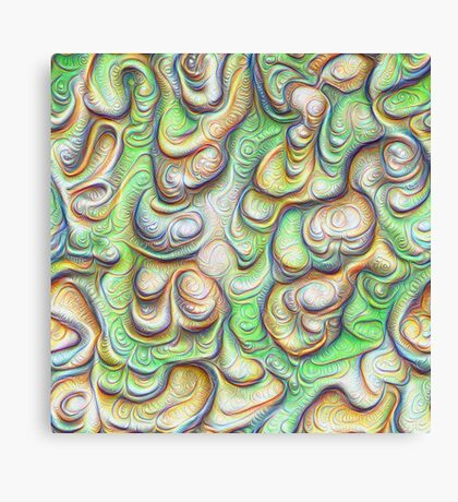 Frozen liquid green stones #DeepDream #Art Canvas Print