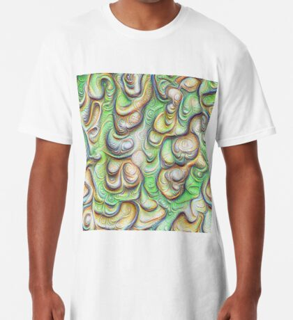 Frozen liquid green stones #DeepDream #Art Long T-Shirt