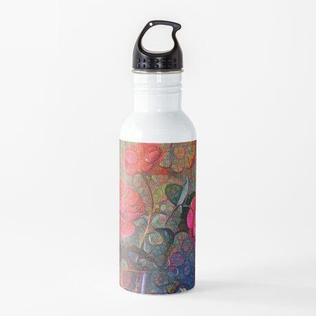 Roses #DeepDreamed Water Bottle