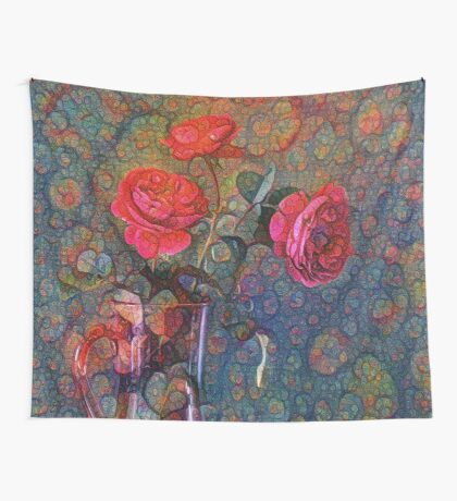 Roses #DeepDreamed Wall Tapestry