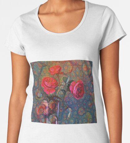 Roses #DeepDreamed Premium Scoop T-Shirt