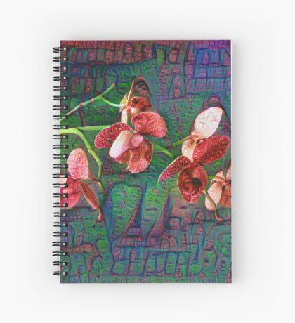 Phalaenopsis A #DeepDream Spiral Notebook