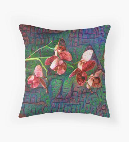 Phalaenopsis A #DeepDream Throw Pillow