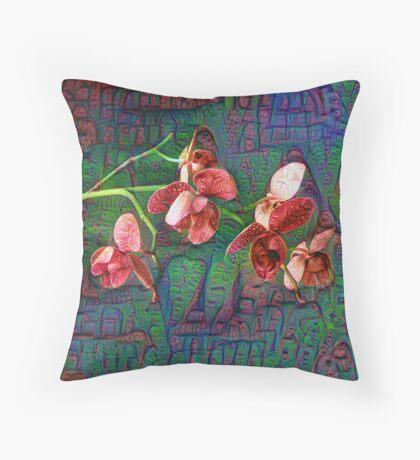 Phalaenopsis A #DeepDream Floor Pillow