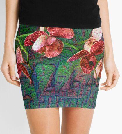 Phalaenopsis A #DeepDream Mini Skirt