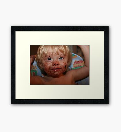 Boy, That Cookie Was Good!! Framed Print