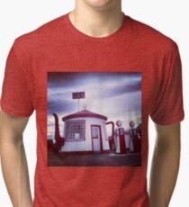 Tiny Old Fashion Teapot Gas Station Tri-blend T-Shirt
