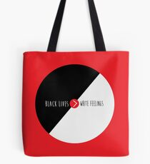 Black Lives are Greater Than White Feelings (Circle) Tote Bag