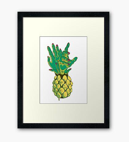 Zombie Pineapple #2 Framed Print