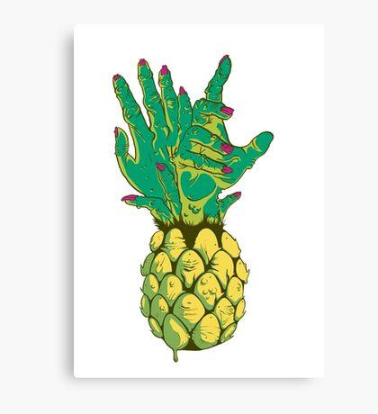 Zombie Pineapple #2 Canvas Print