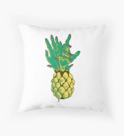 Zombie Pineapple #2 Throw Pillow
