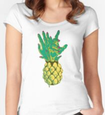 Zombie Pineapple #2 Women's Fitted Scoop T-Shirt