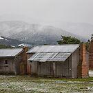 Snow at Grove, Tasmania #3 by Chris Cobern