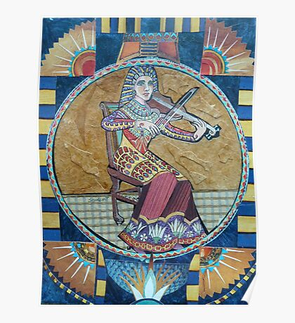 Egyptian Violin Poster