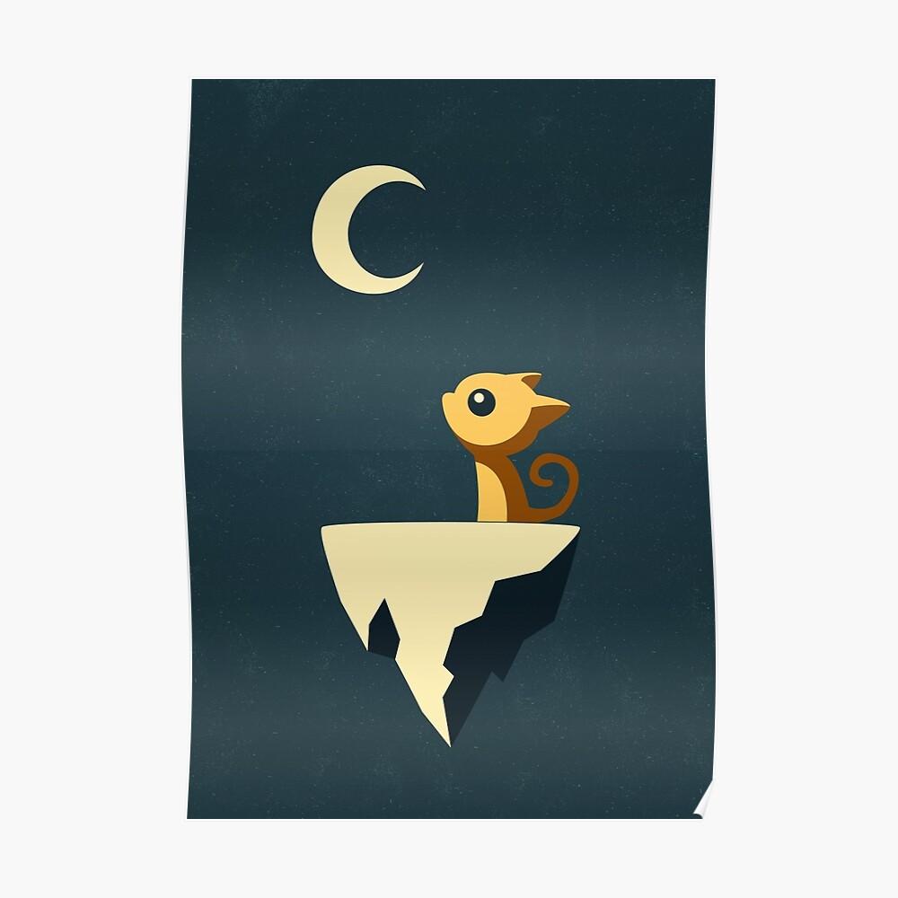 Mond Katze Poster
