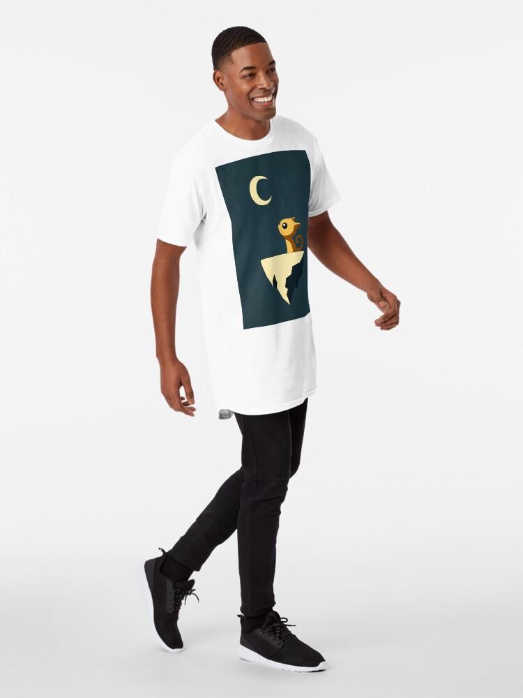 Alternative Ansicht von Mond Katze Longshirt
