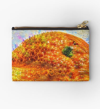 #DeepDreamed Frozen Orange Zipper Pouch
