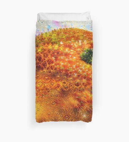 #DeepDreamed Frozen Orange Duvet Cover