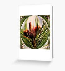 Pinecone Globe Greeting Card