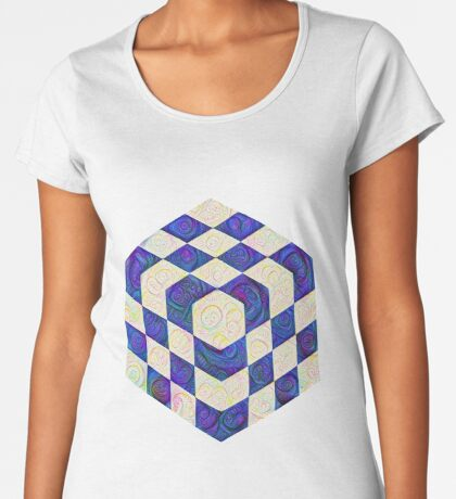 #DeepDream Color Squares Visual Areas 5x5K v1448964615 Premium Scoop T-Shirt