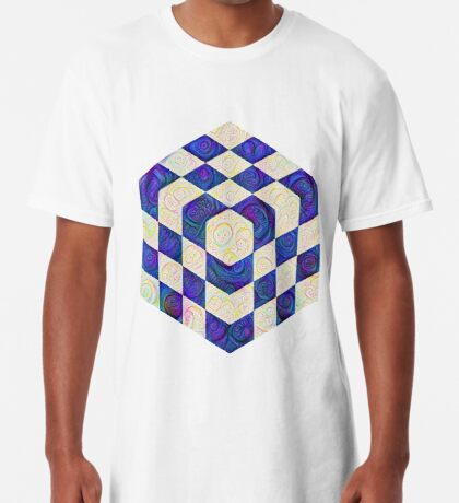 #DeepDream Color Squares Visual Areas 5x5K v1448964615 Long T-Shirt