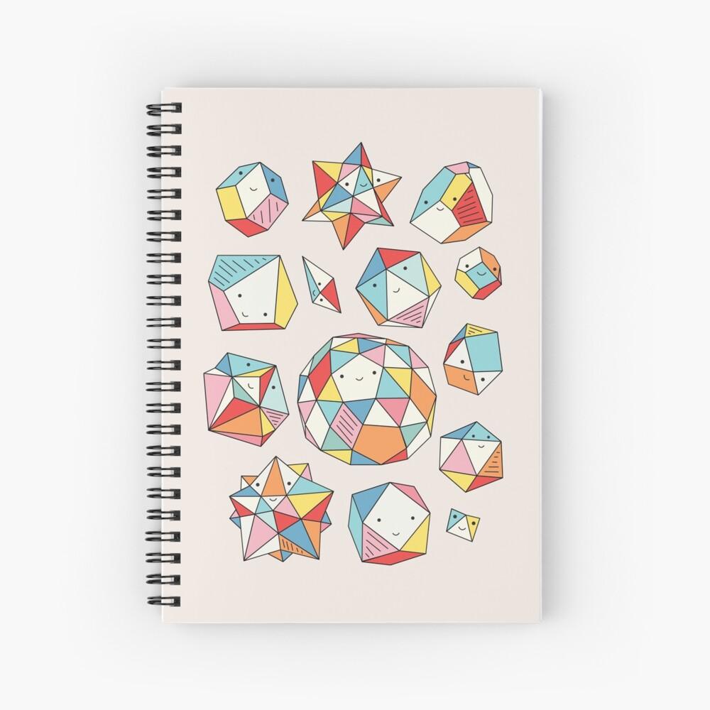 Power rocks by Elebea Spiral Notebook