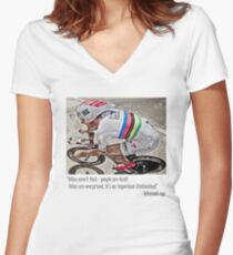 bikes are'nt fast Women's Fitted V-Neck T-Shirt