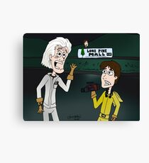 """BttF - Lone Pine Mall ...""""Run for it, Marty!"""" (Marty's 2 POVs) Canvas Print"""
