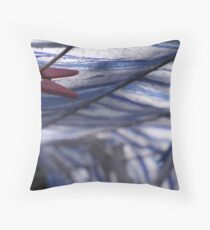 Inside the washing line Throw Pillow