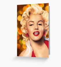 Marilyn Monroe Art Greeting Card