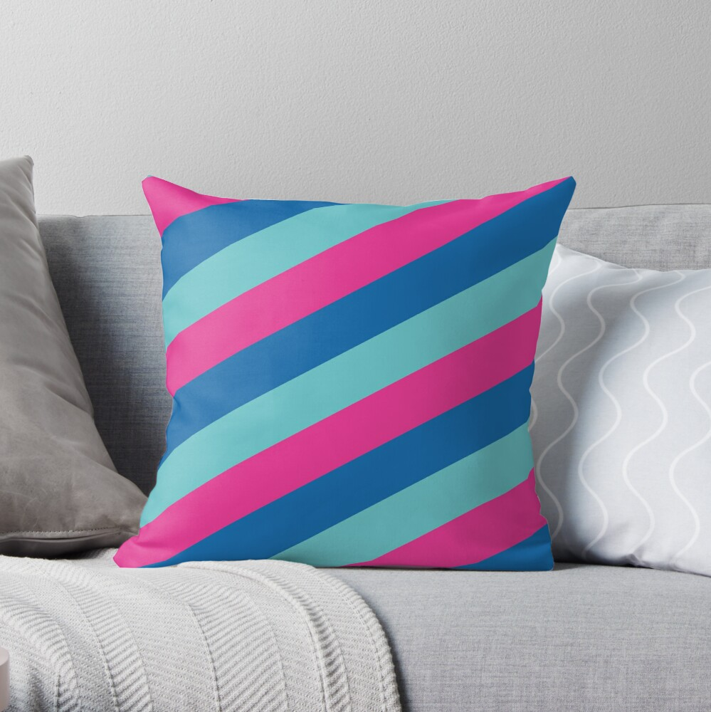 Simplee Stripes: Design 2 of 9 Throw Pillow
